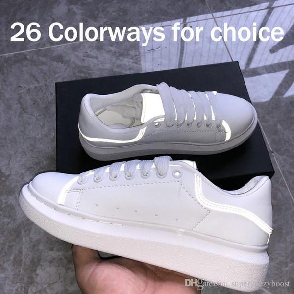 3 M Yansıtıcı İNGILTERE Erkek Tasarımcı Ayakkabı 2019 Moda Lüks Tasarımcı Kadın Ayakkabı Parti Platformu Rahat Sneakers EUR 36-44