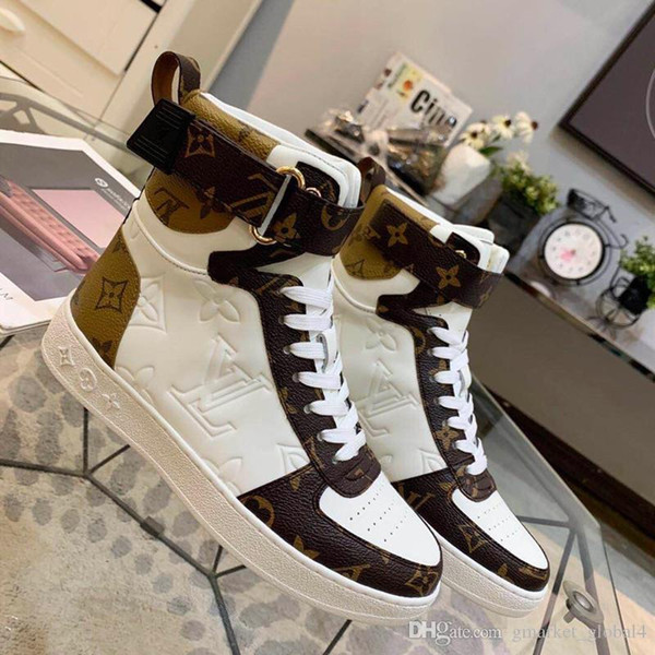 top popular Lady New men and women BOOMBOX SNEAKER BOOT luxury designer shoes 1A5MWJ men's women's sports shoes casual shoes top quality size 35-45 2020