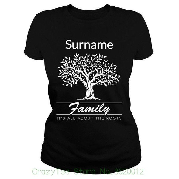Women's Tee Surname Family It's All About The Roots Printing Clothes T Shirts For Woman On Sale Short Sleeve