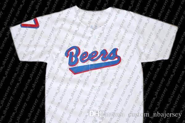 100% bordado Doug Remer # 17 Baseketball Cervezas Película Nueva jerseys blancos personalizado cosido cualquier nombre número MEN Jerseyss NCAA JERSEY