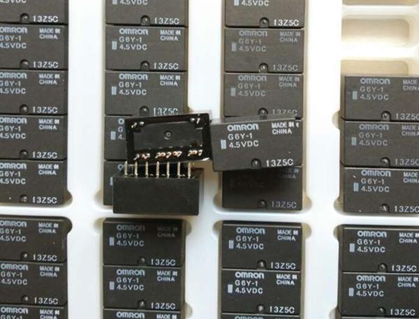 lote O envio gratuito (5pieces / lot) 100% Original New G6Y-1-4.5VDC G6Y-1-5VDC G6Y-1-9VDC G6Y-1-12VDC G6Y-1-24VDC 4PIN 8A Relé