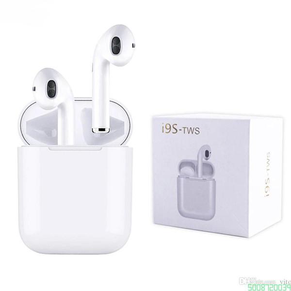 I9s tws Kulakiçi Mini Kablosuz Bluetooth Kulaklık android iPhone için Bluetooth Kulaklık v5.0 Manyetik şarj kutusu ile Kulaklıklar 0039