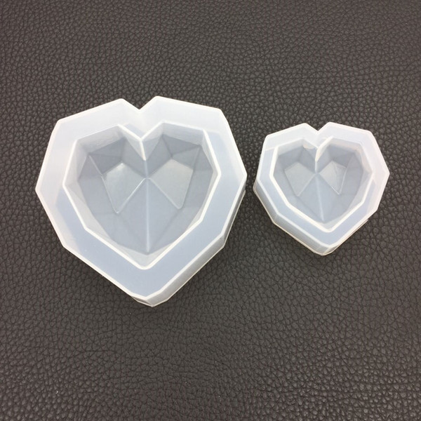 New Diamond Heart Shaped Silicone Jewelry Handcraft Epoxy Tools for Making Jewelry Accessories