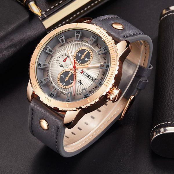 Curren 8206 Luxury michael Quartz Watch Casual Fashion Leather Watches Reloj Masculino Men Sports Wholesale Watches