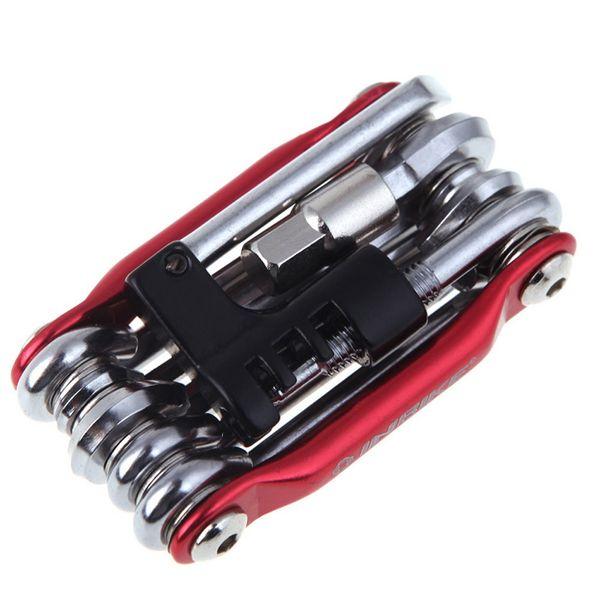 All'ingrosso-15 in 1 bicicletta strumenti strumento multifunzione che ripara biciclette Set Bike Repair Tool Kit chiave cacciavite catena di carbonio della bicicletta in acciaio