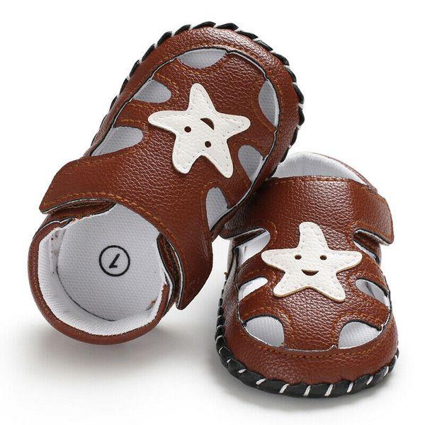 9e846d85 Bebé recién nacido Niños Chicas PU Estampado de estrellas casual Zapatos de  suela blanda Entrenadores Tamaño