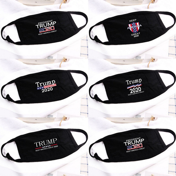 top popular 5 Styles Donald Trump Mask Face Mouth Mask Funny Anti-Dust Cotton USA Woman Men Unisex Fashion Winter Warm Black Washable Mask 2021