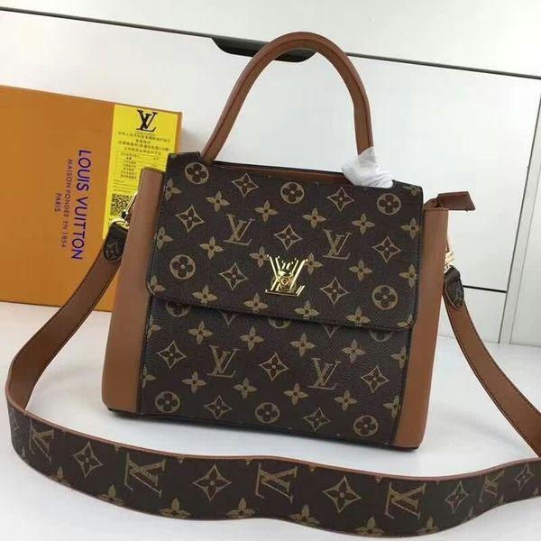 2019 M55019 Fashion Canvas With Calfskin Brown Handbag Shoulder Bags Hobo Handbags Top Handles Boston Cross Body Messenger Shoulder Bags