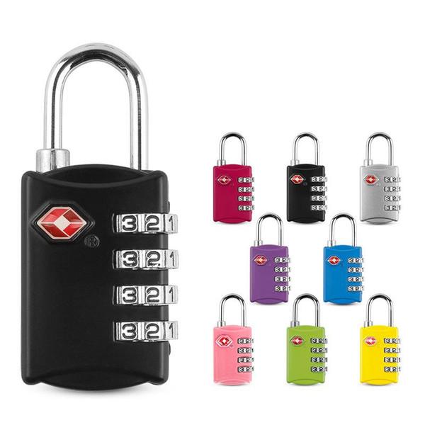 top popular 9styles TSA Customs locks 4 Digit Code Combination Lock Resettable Travel Luggage Padlock Suitcase High Security locks FFA1982 2021