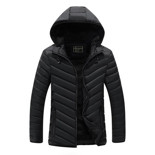 Chaquetas de algodón acolchadas para hombres con auriculares, alta calidad, moda de invierno, chaqueta exterior Parka para hombre con capucha Wadded abrigos AU-154