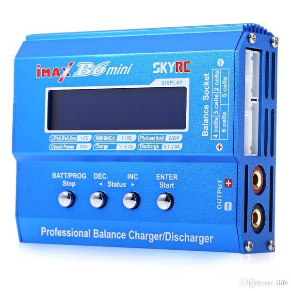 Подлинная SKYRC iMAX B6 Mini 60W профессиональный Lipo баланс зарядное устройство разрядник для RC зарядки аккумулятора Re-пиковый режим для NIMH / NICD Hot +NB