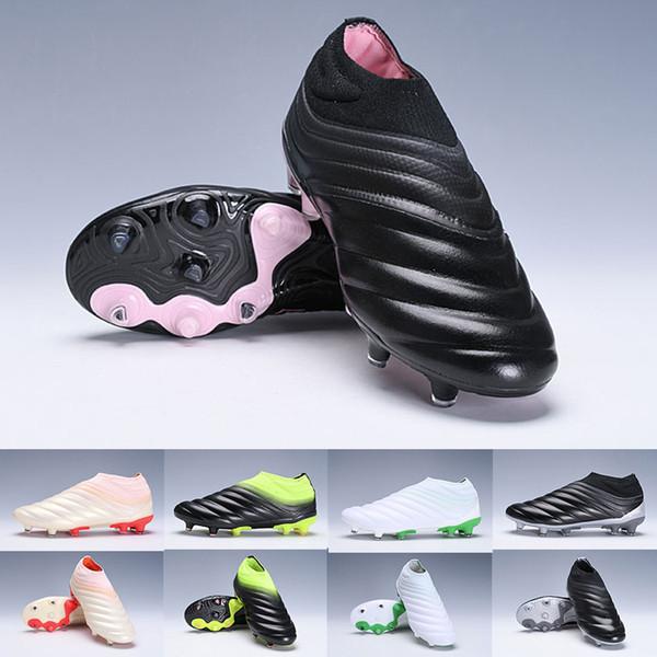 Hombres 2019 Copa 19 19.1 Fg Ag Hombres Mujeres Zapatos de fútbol Rosa Blanco Negro Zapatillas de deporte Botas de fútbol Scarpe Calcio Cleats Zapatillas de deporte