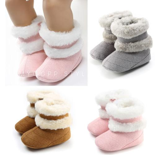 Fashion Toddler Baby Kid Boys Girls Warm Snow Shoes Boots Soft Sole Crib Party Shoes