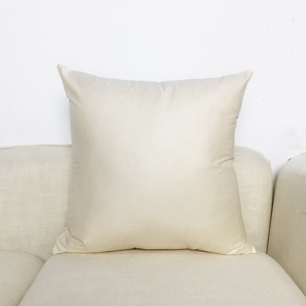 Cotton Solid Color Soft Plain Cushion Cover Home Decoration Sofa Bed Decor Decorative Blank Natural Pillowcase