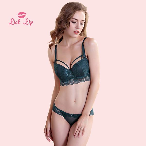 Lick Lip Sexy See Through Bra Women Underwear Set Camis Lace Lingerie Bra and Panty Set Oversize Three Quarters Bra SWC3894-47