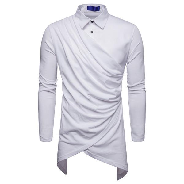 MUQGEW men dress shirts long sleeve Men Two False Pieces Autumn Winter Stripe Long Sleeve Dashiki Shirt Top Blouse#G4