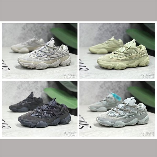 Desert Rat 500 Running berühmte Marken Schuhe Moon Yellow Black Blush 2019 Designer Herren Damen Sneakers Trainer Cow Leather 3M Reflective L6