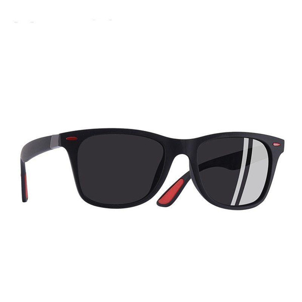 MARCAS Nuevas Mujeres Hombres Gafas de sol Gafas de sol polarizadas Vintage Gafas de sol de conducción Aleación Templo Gafas de montura cuadrada Dropshipping
