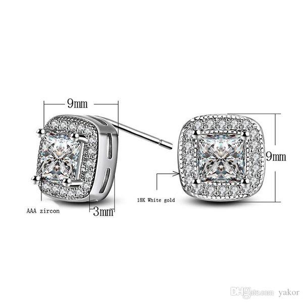 Orecchini da donna Gioielli da sposa Orecchini ORECCHINI in argento sterling 925 placcato con diamante CZ per gioielli da donna