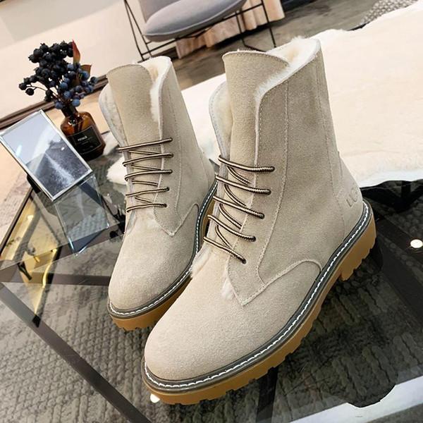 Womens Snow Boots Shoes VGG Brand Plus Velvet Classic Warm Fur Plush Lace-Up High Top Boots Shoes Zapatos de hombre Winter Luxury