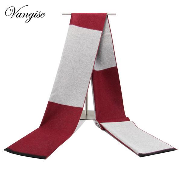 Neue Wintermänner wärmen Schal männliche Kaschmir-beiläufige Art und Weise Schalldämpferschals und -schals stricken Regenpfeifekasten Schals echarpe hommer