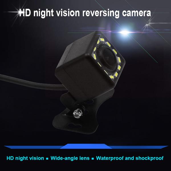 Voiture Caméra résistant aux intempéries avant Vue arrière Enregistreur externe Camion nuit de recul Caméra de recul voiture image 12 LED