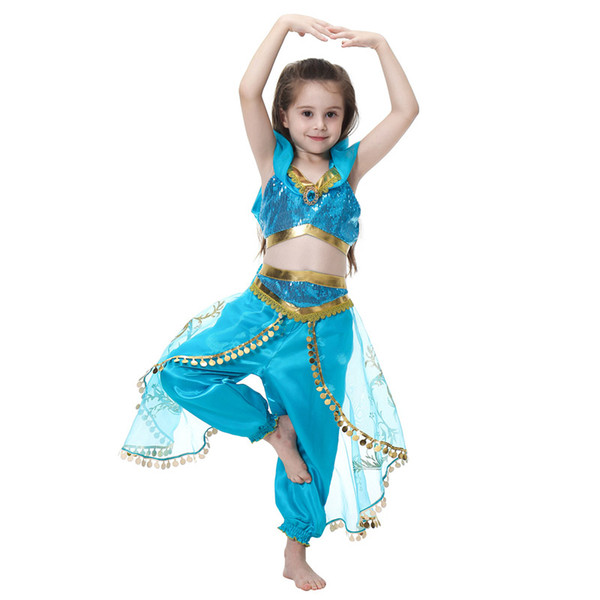 Accessories Cosplay Costumes Children Aladdin's Lamp Jasmine Princess Costumes Cosplay For Girls Halloween Party Belly Dance Dress Indian...