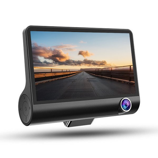 4-inch 3-lens Car Dash Camera High Definition Video Recorder With Night Vision car dvr