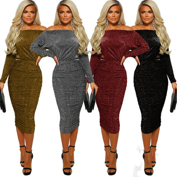 Женская одежда Великолепное обтягивающее платье Модная сексуальная сумка до плеча Платья для вечеринок Skinny Sexy Club