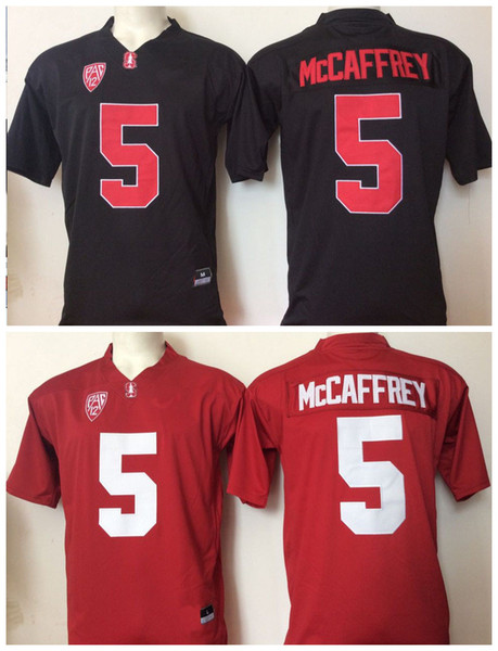 2017 Cheap Wholesale Factory Outlet Youth Stanford Cardinals 5 Christian McCaffrey Black Red Kids Boys Children College Football Jerseys