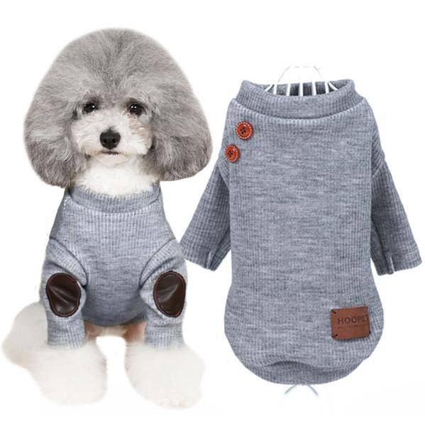 купить оптом бренд одежда для собак вязаная кнопка свитер мягкий
