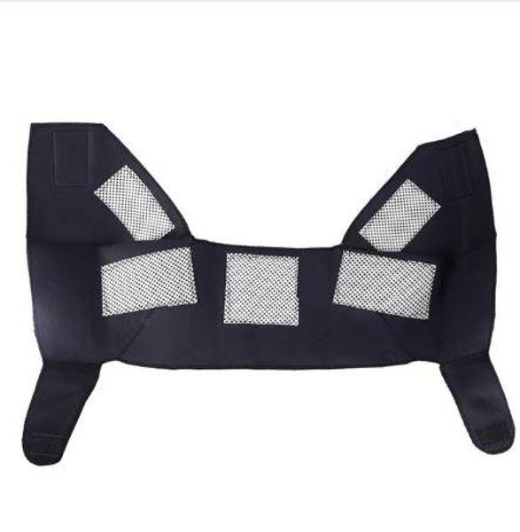 Cuidado del dolor Alivio de la terapia magnética Protección de los hombros Autocalentable Masaje Turmalina Cinturón de calentamiento Cuidado de la parte superior de la espalda