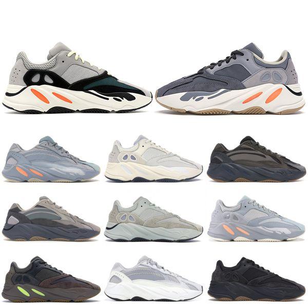 top popular New 700 Kanye West Magnet Men Deisgner shoes Hospital Blue Inertia Reflective Wave Runner Static Analog Vanta Black Women Running Sneakers 2019