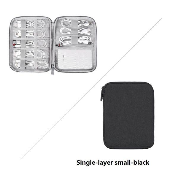 capa única en pequeña negro
