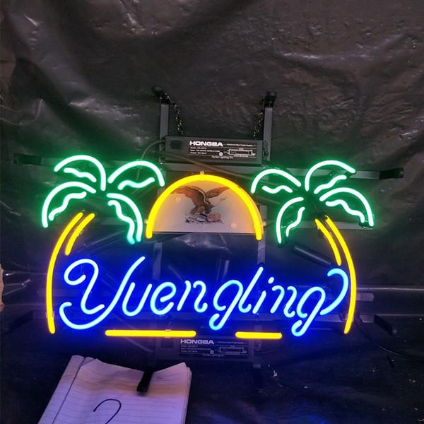 Yuengling bira Neon Burcu Işık Reklam Bar Eğlence Kulübü Dekorasyon Sanat Ekran Gerçek Cam Neon Lamba Metal Çerçeve 17 '' 24 '' 30''40 ''