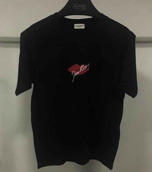 marca para hombre camiseta diseñadores sentido común de primavera y verano red camiseta pista franja verde letra de la impresión de la camiseta ocasional de los hombres superiores de la camiseta