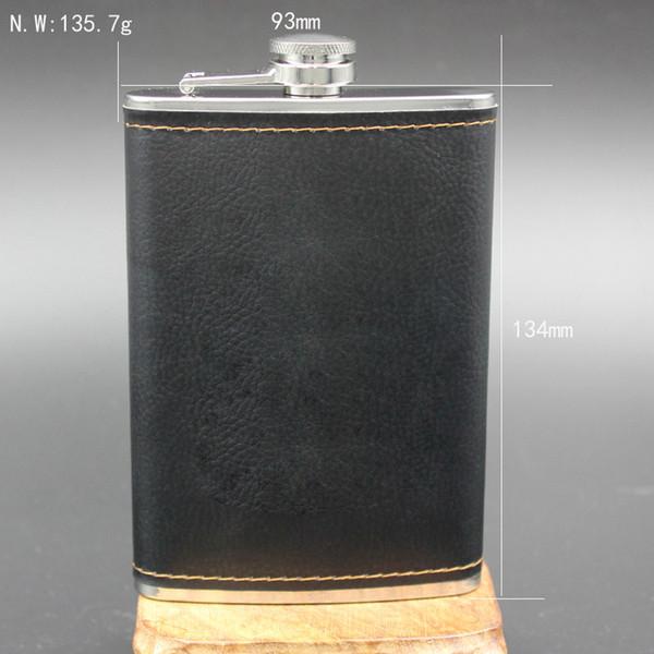 Bevorzugte Qualität Edelstahl 9 Unzen Flachmann Leder Whisky Weinflasche Retro Gravur Alkohol Pocket Flagon Mit Box Geschenke