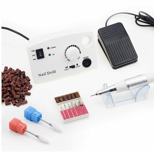 Electric Nail Drill Machine 35000RPM 25W Pro Diamond Nail Cutter Bit Pedicure Maniure Machine Nail Drill Bits Polisher Tool