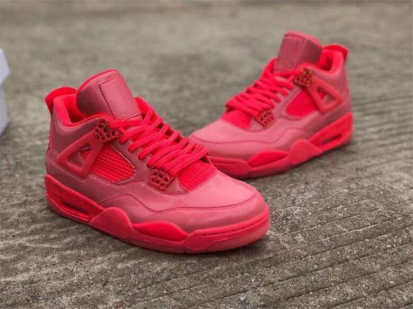 Оптовые ботинки Нового 4 NRG горячего пунш 4S IV Открытые для мужчин Горячего Панча Красного Черного Volt AQ9128-600 AR4J0rdan Открытой обуви Размера 14