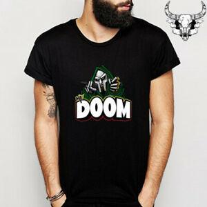 Maglietta MF Doom Poster Rap Hip Hop Music Band BlaSummer T-shirt taglia S a 3XL