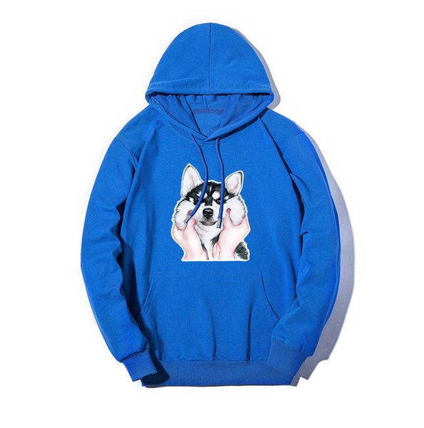 Designer Mens Hoodies Dog Print Hooded Thin Sweatshirts Casual Customizable Pullover Loose Sweater for Men Clothing Size M-5XL Wholesale