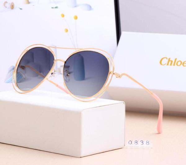 0838 Хлоя Мужчины Женщины Тенденции моды поляризованные очки 59мм линзы 6 цветов Солнцезащитные очки Горячие Стиль Мода Тренд Повседневный очки