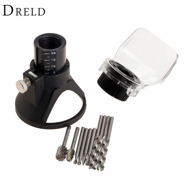 remel accessories Dremel Accessories Drill Dedicated Locator Grinder Rotary Tool+6Pcs HSS Wood Milling Burrs+4Pcs HSS Drill Bit+A Protect...