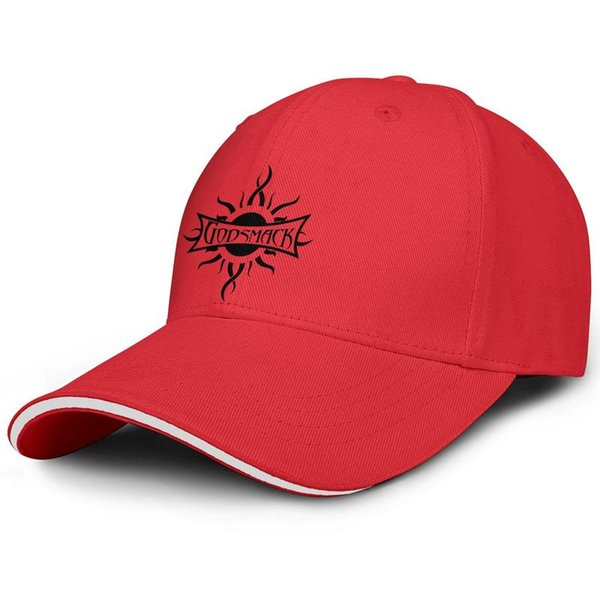 Godsmack music band logo red man and woman sandwich hat baseball design design custom hat sports fashion baseball custom cap best or