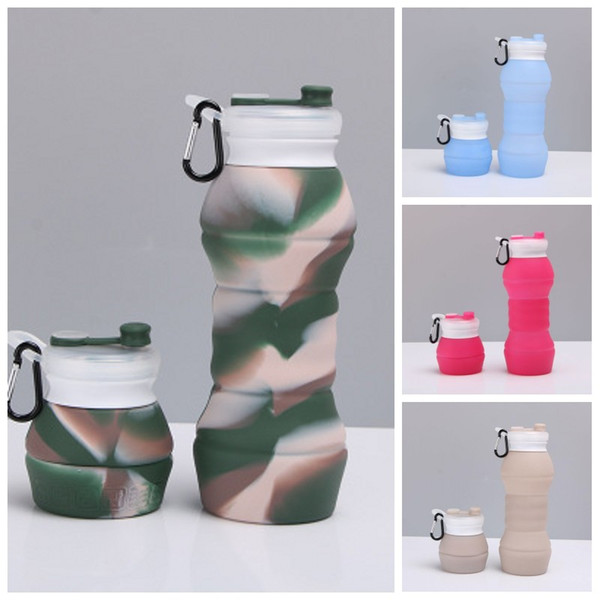 Folding Collapsible Water Bottle Carriers Outdoor Drinkware Camping Climbing YJ