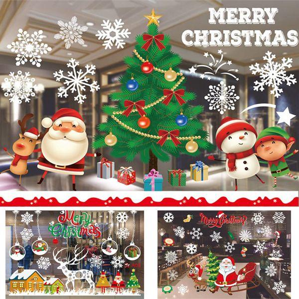 Inicio Feliz Navidad.Compre Adhesivos Autoadhesivos De Navidad Decoraciones Liquidacion Feliz Navidad Ornamento Inicio Ventana Pegatinas De Pared Centro Comercial De
