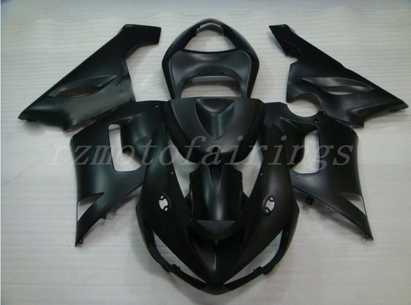 3Gifts New ABS moto carénages Kits Fit Pour kawasaki Ninja ZX6R 636 2005 2006 05 06 6R 600CC kit de carénage nice noir