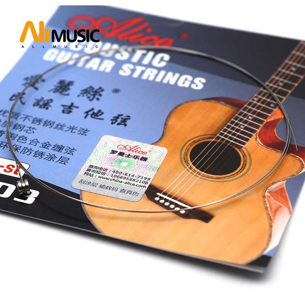 top popular 10pcs Alice A203 Balladry Guitar 1st String Wood Guitar String Alice Guitar Strings of Ballads Free shipping MU0239-1 2019