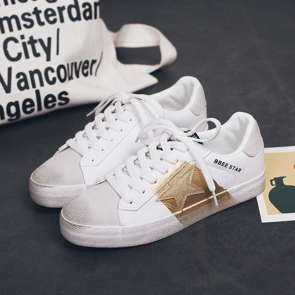 New Women Canvas Shoes Lace-up Sneakers with Star Decor Dirty Design Student Skate Footwear Stylish White Antiskid Leisure Shoes