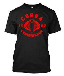 Cobra Comandante Logotipo pelotão G Eu Joe filmes Custom Men 039 s T Shirt Tee